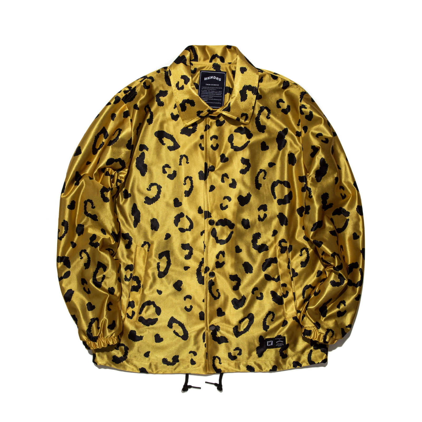 LEOPARD COACH JACKET (YELLOW)