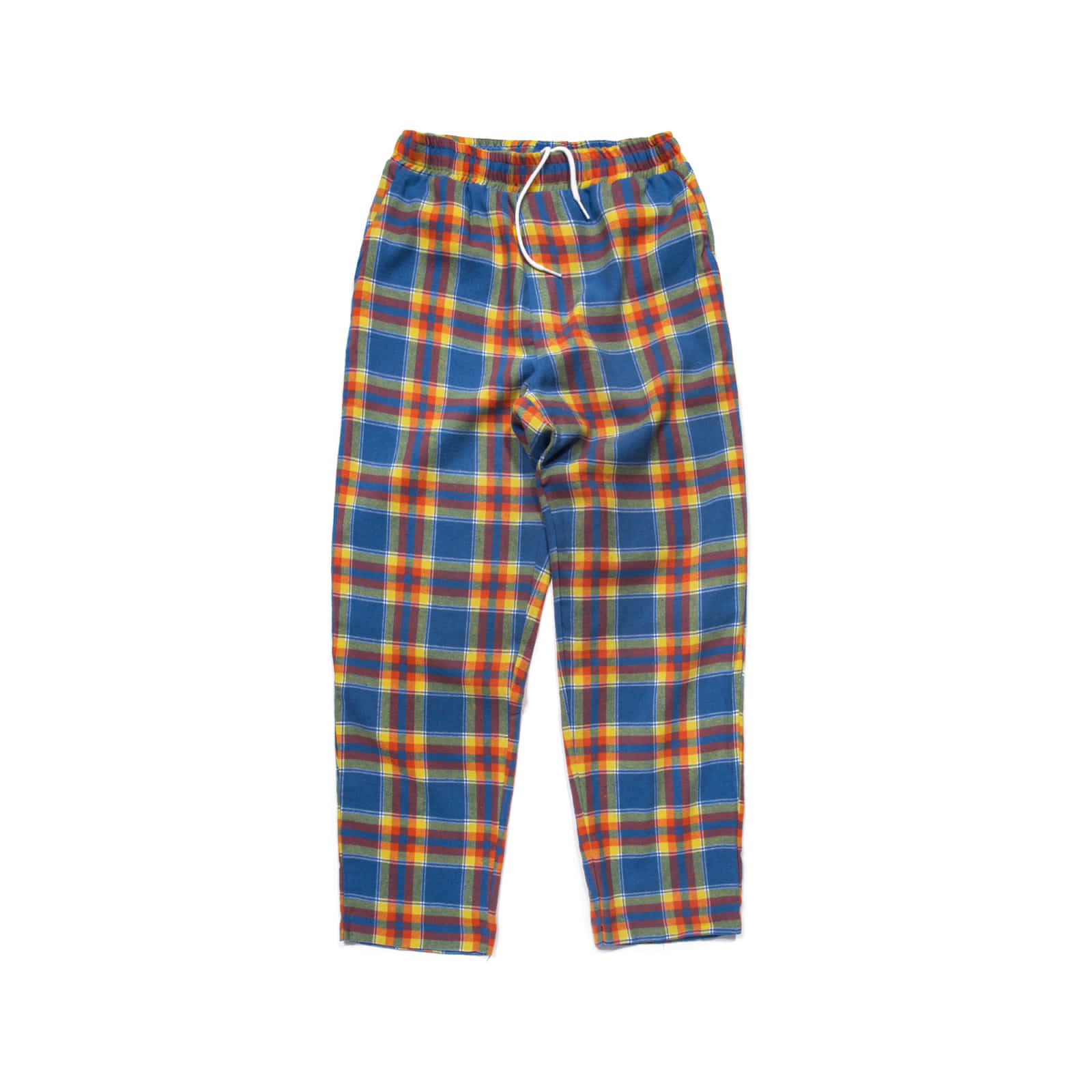 OVERSIZED PLAID TROUSER (BLUE)