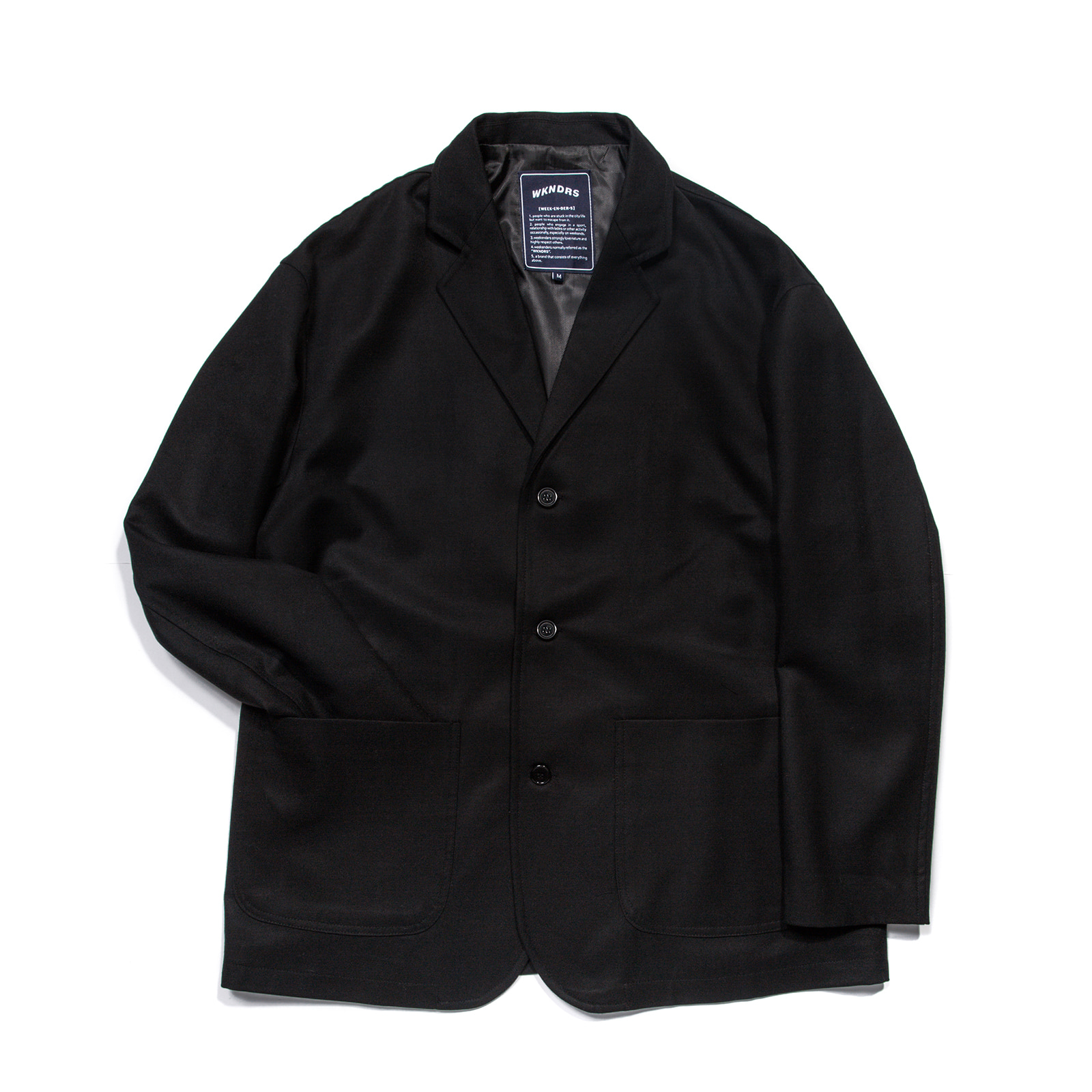 OVERSIZED SINGLE JACKET (BLACK)