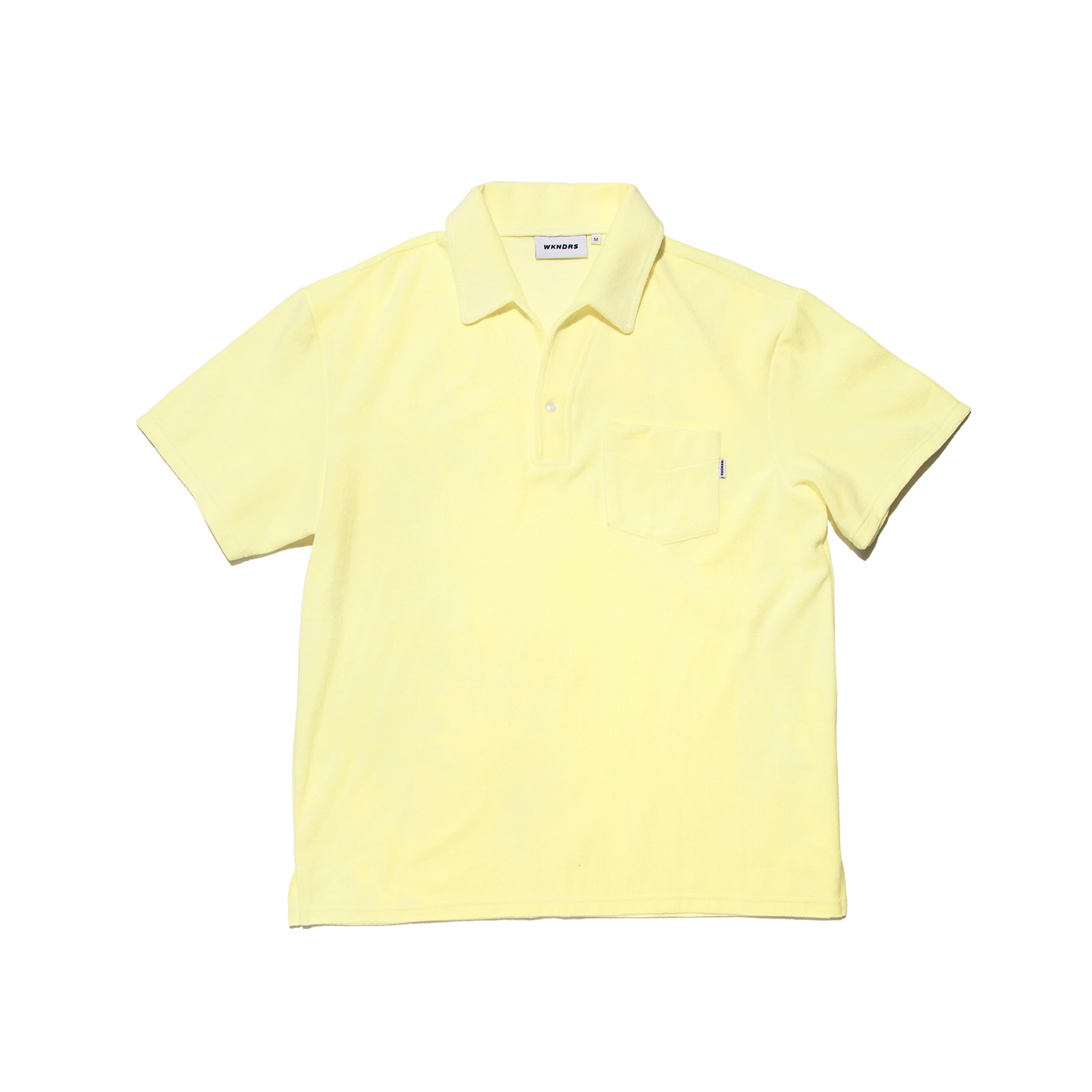 TOWEL COLLAR T-SHIRTS (L.YELLOW)