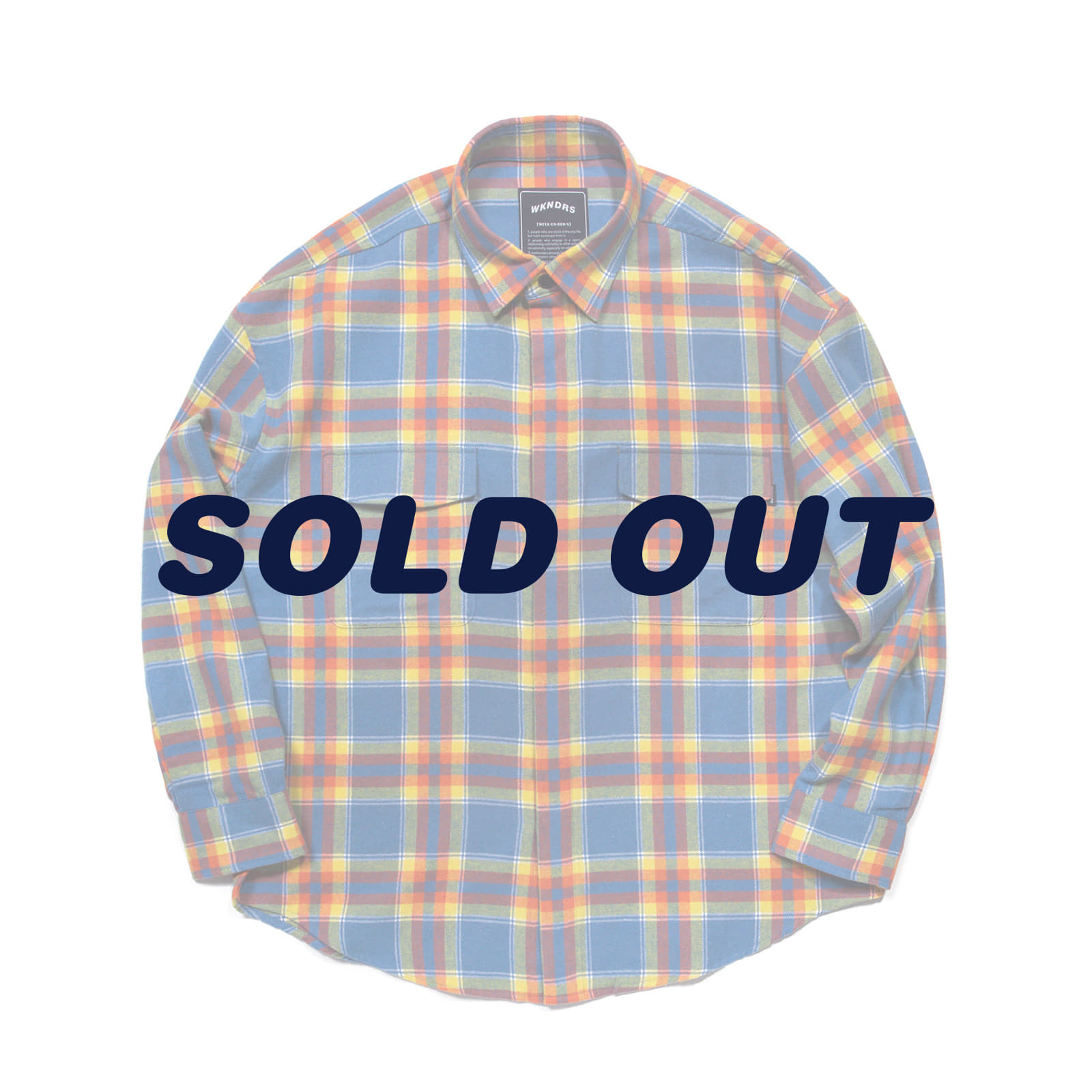 OVERSIZED PLAID SHIRT JACKET (BLUE)