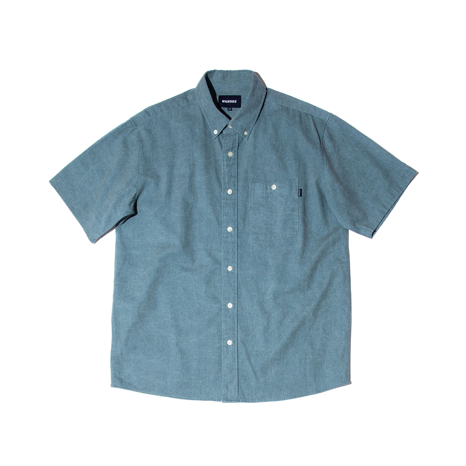 BASIC SHORTS SLEEVE SHIRTS (S.BLUE)