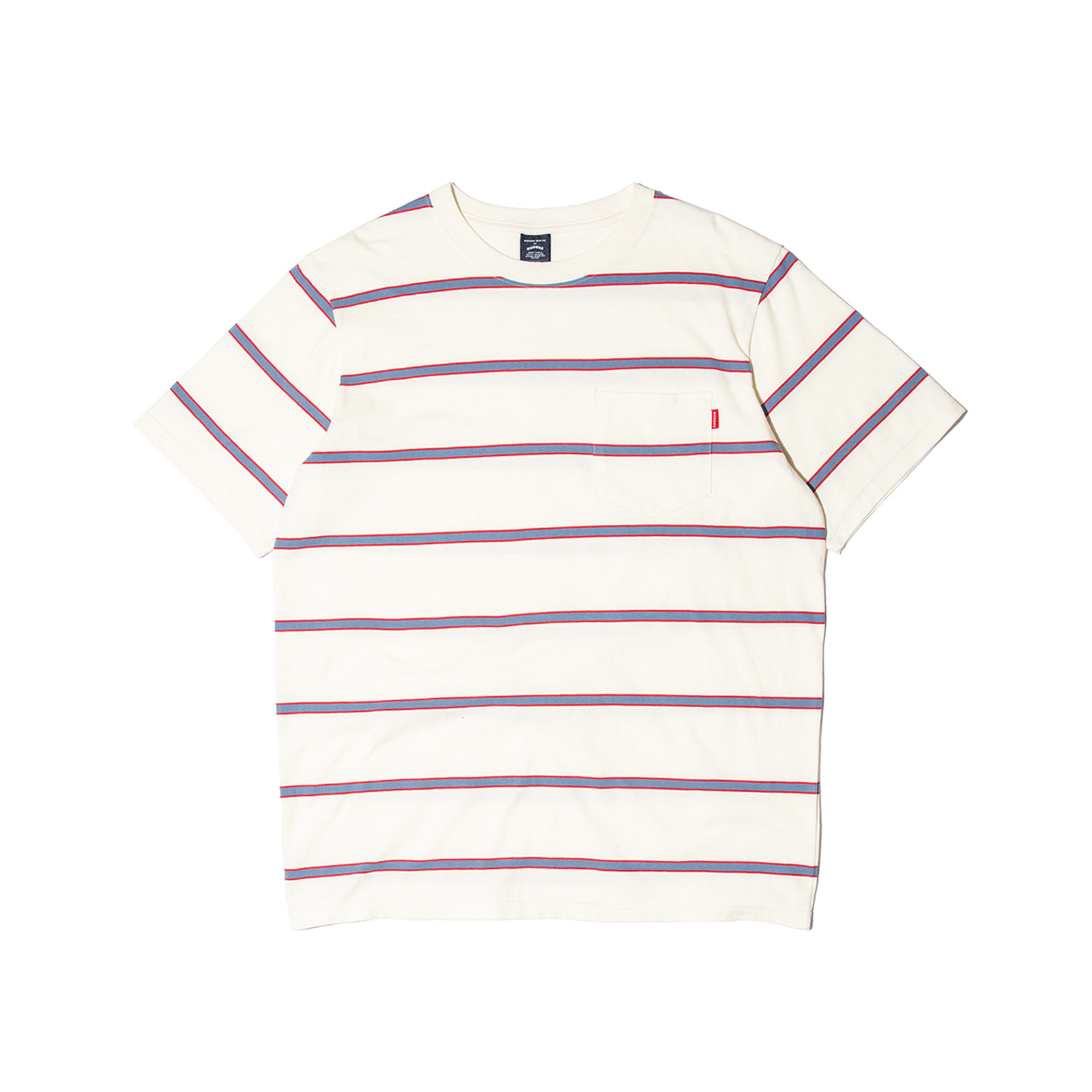 STRIPE POCKET TEE (BLUE)