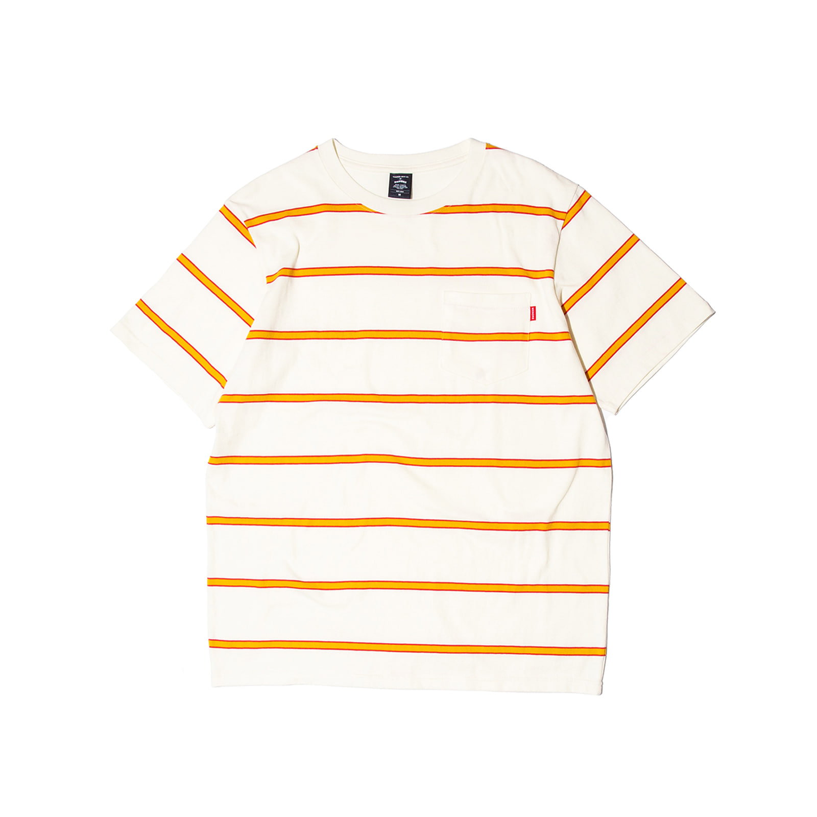 STRIPE POCKET TEE (YELLOW)