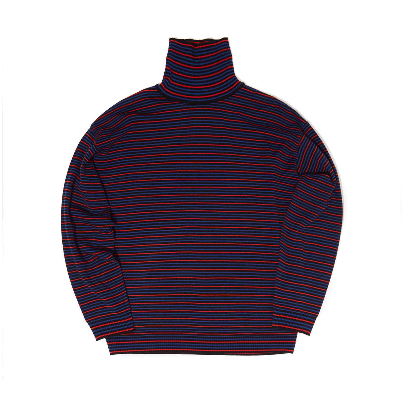 STRIPTED KNIT TURTLENECK (BLACK)