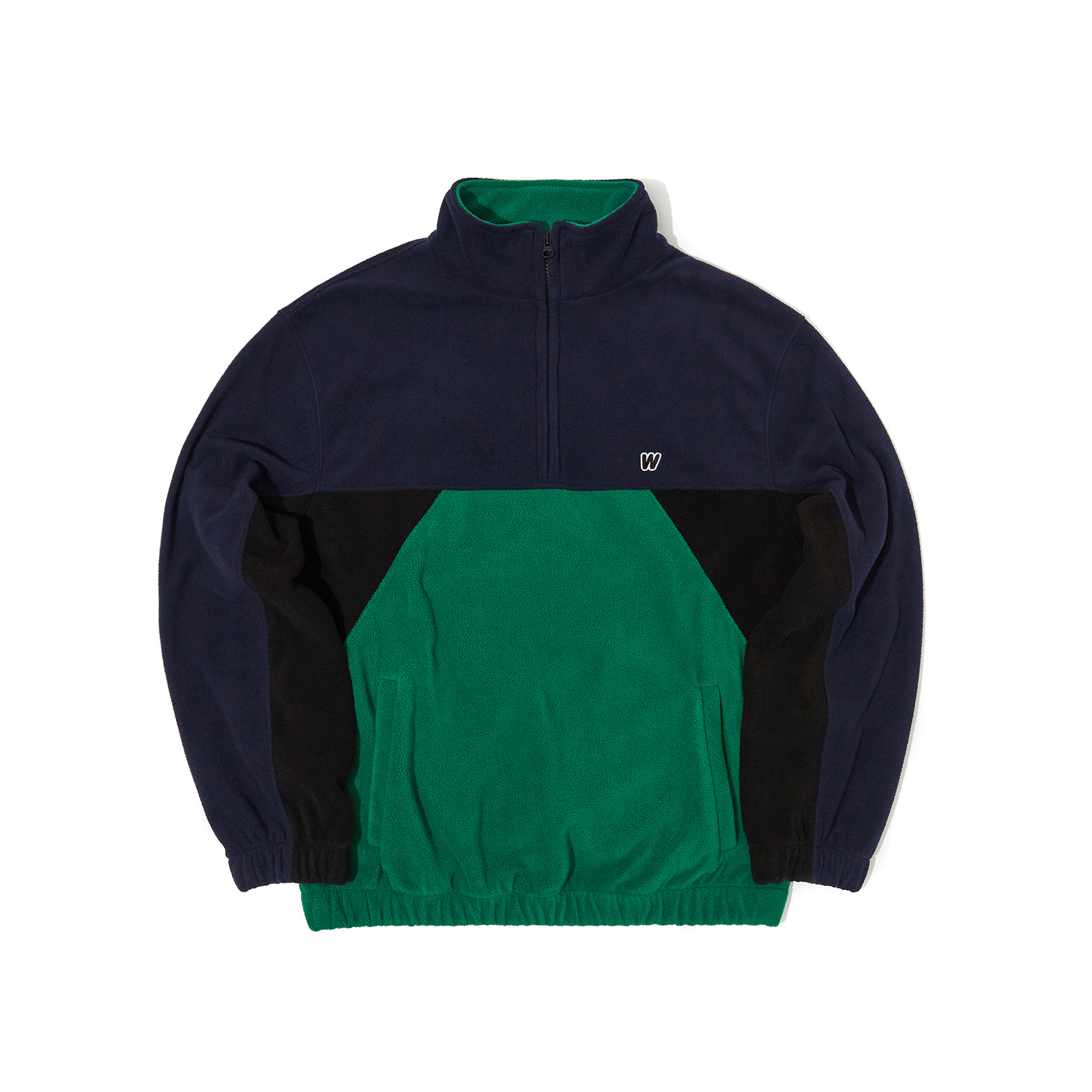 CUTTED FLEECE JUMPER (GREEN)