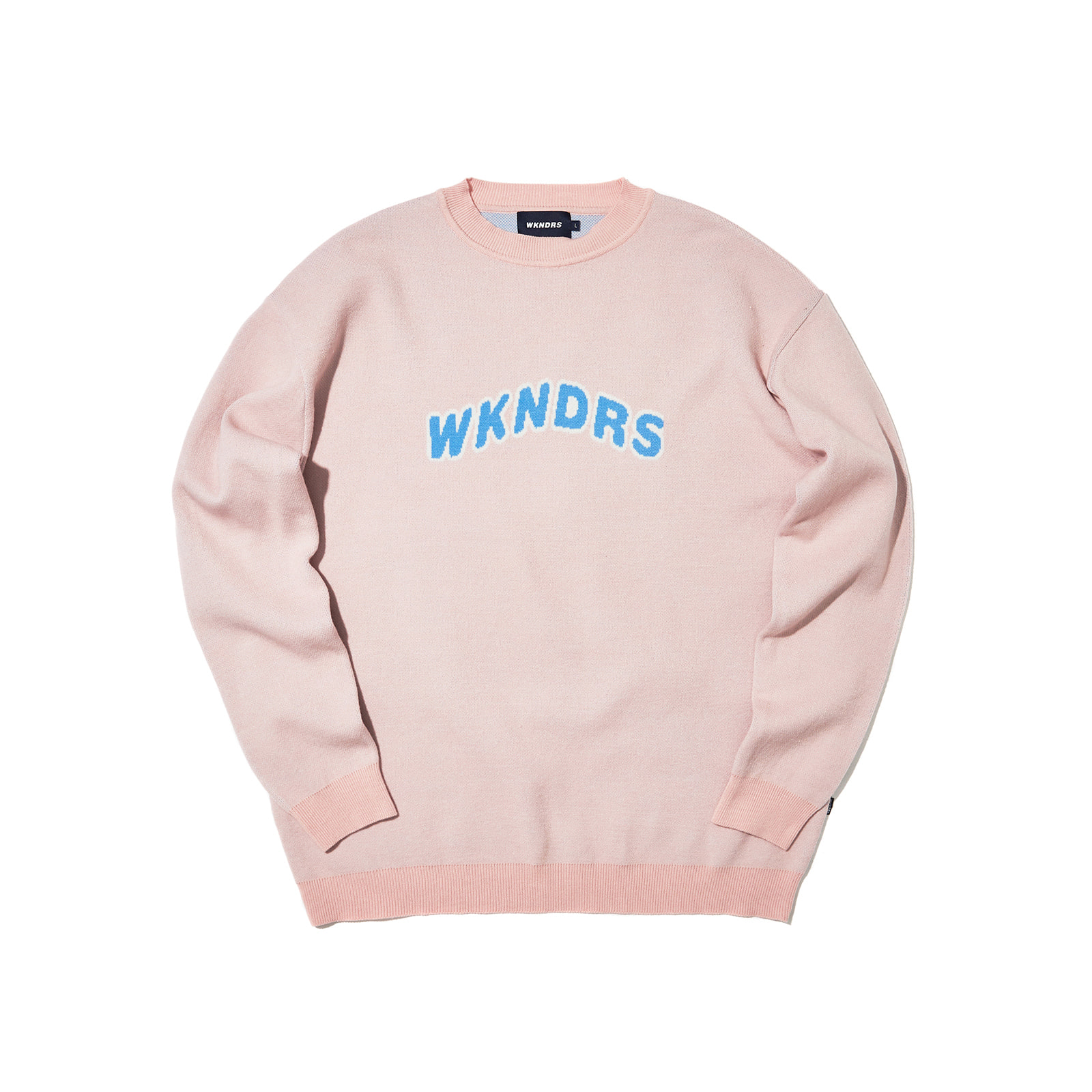 WAVY LOGO KNITTED CREWNECK (PINK)