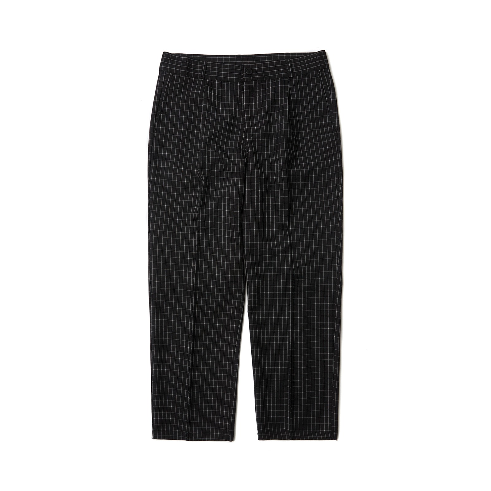 WINDOW CHECK PANTS (BLACK)