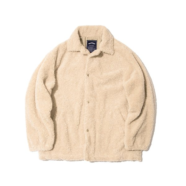 FUR COACH JACKET (BEIGE)