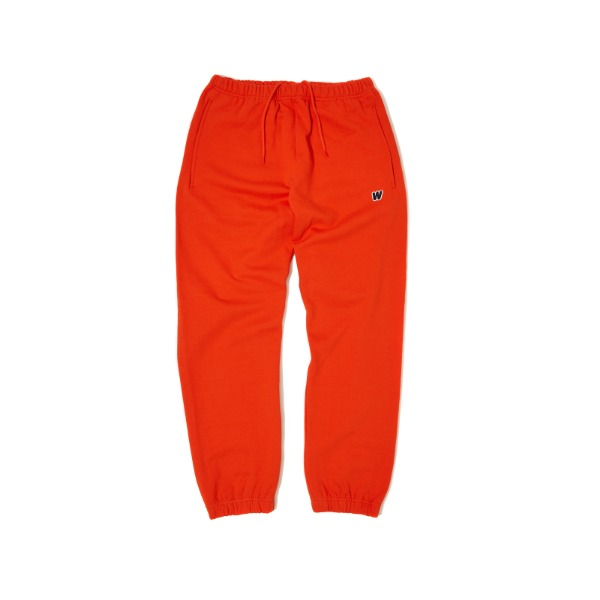 [9/6 예약배송] W LOGO SWEAT PANTS (ORANGE)