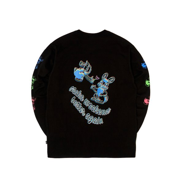 L/S RABBIT TEE (BLACK)