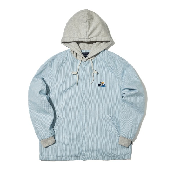 HOODED JACKET (S.BLUE)