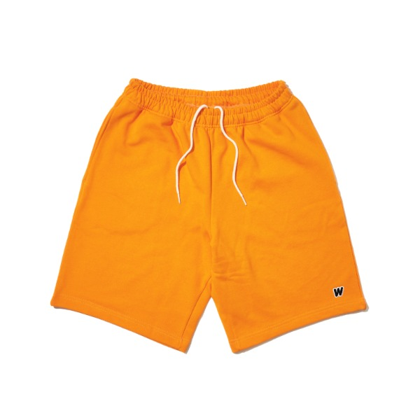 W SWEAT SHORTS (ORANGE)