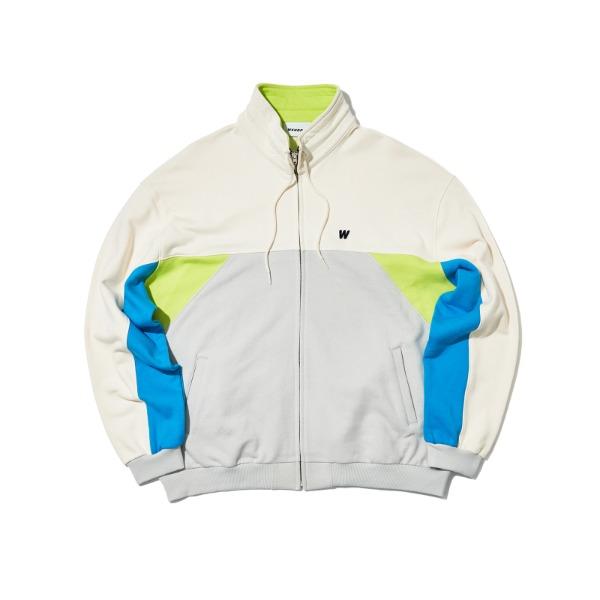 CUTTED TRACK JACKET (NEON)