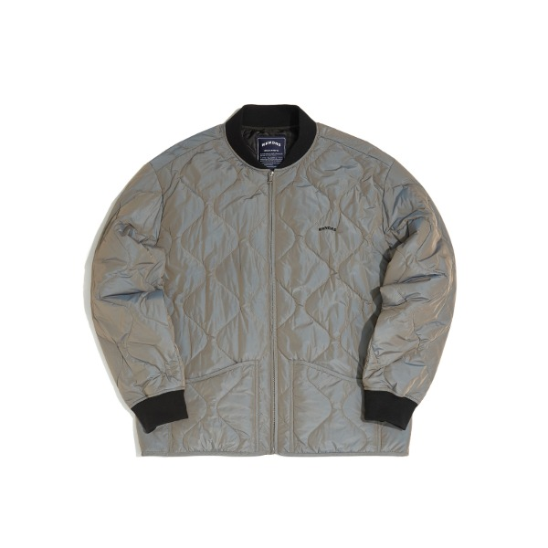 QUILTED JACKET (GREY)