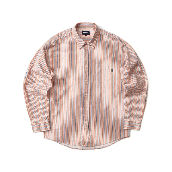 STRIPED STAR SHIRT (ORANGE)