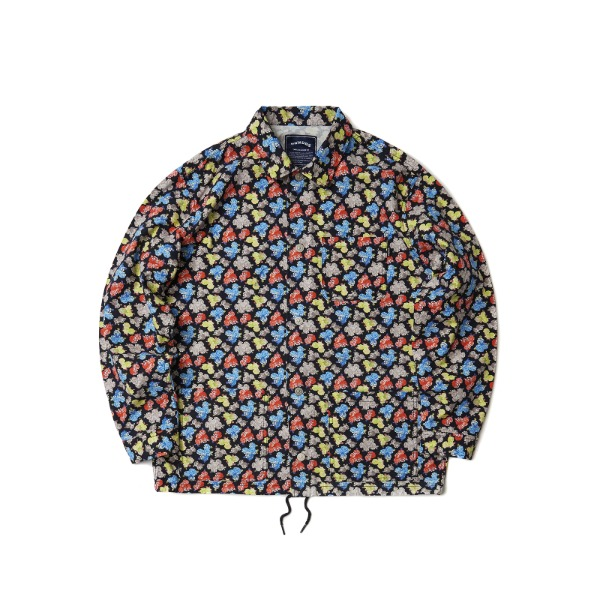 FLORAL OXFORD JACKET (BLACK)