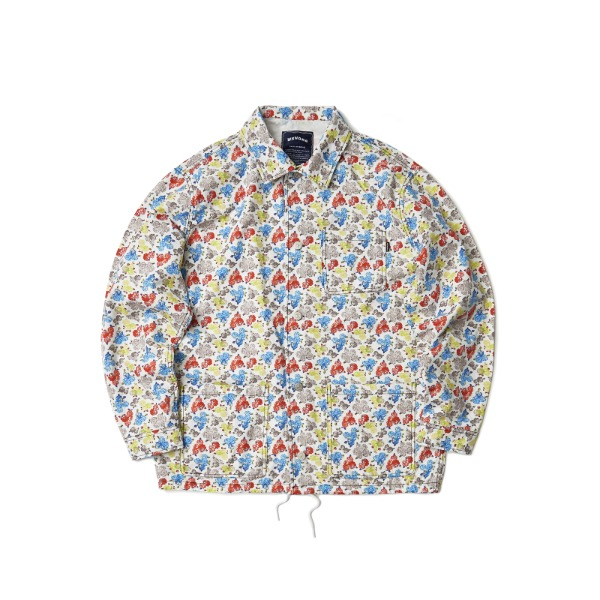 FLORAL OXFORD JACKET (WHITE)