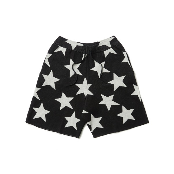 KNITTED STAR SHORT (BLACK)