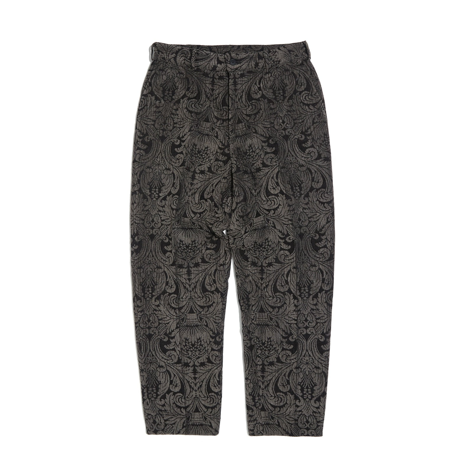 FLORAL JACQUARD PANTS (BLACK)