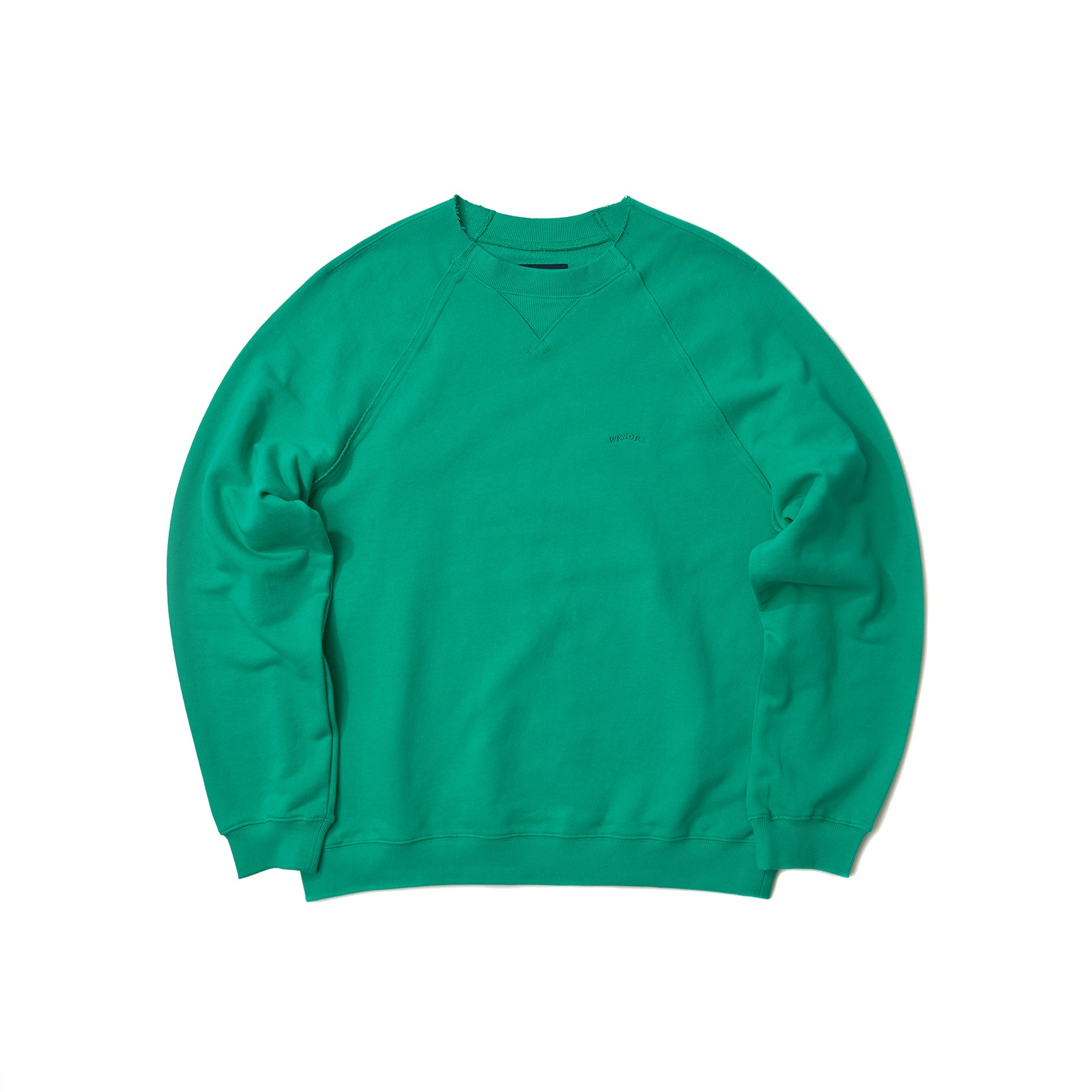 RAW EDGE SWEATSHIRT (GREEN)