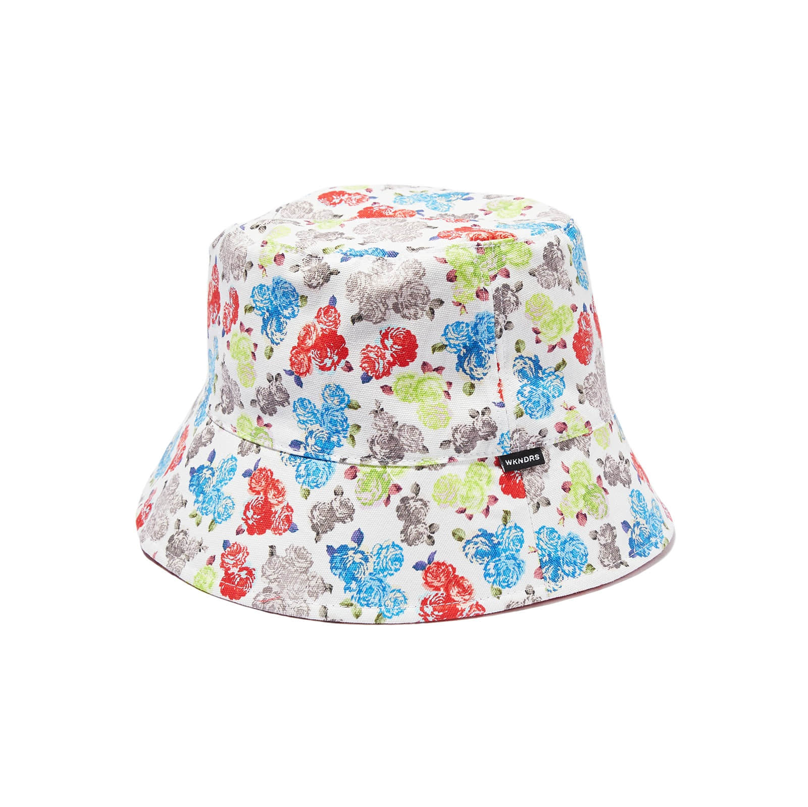 REVERSIBLE FLORAL BUCKET HAT (WHITE)