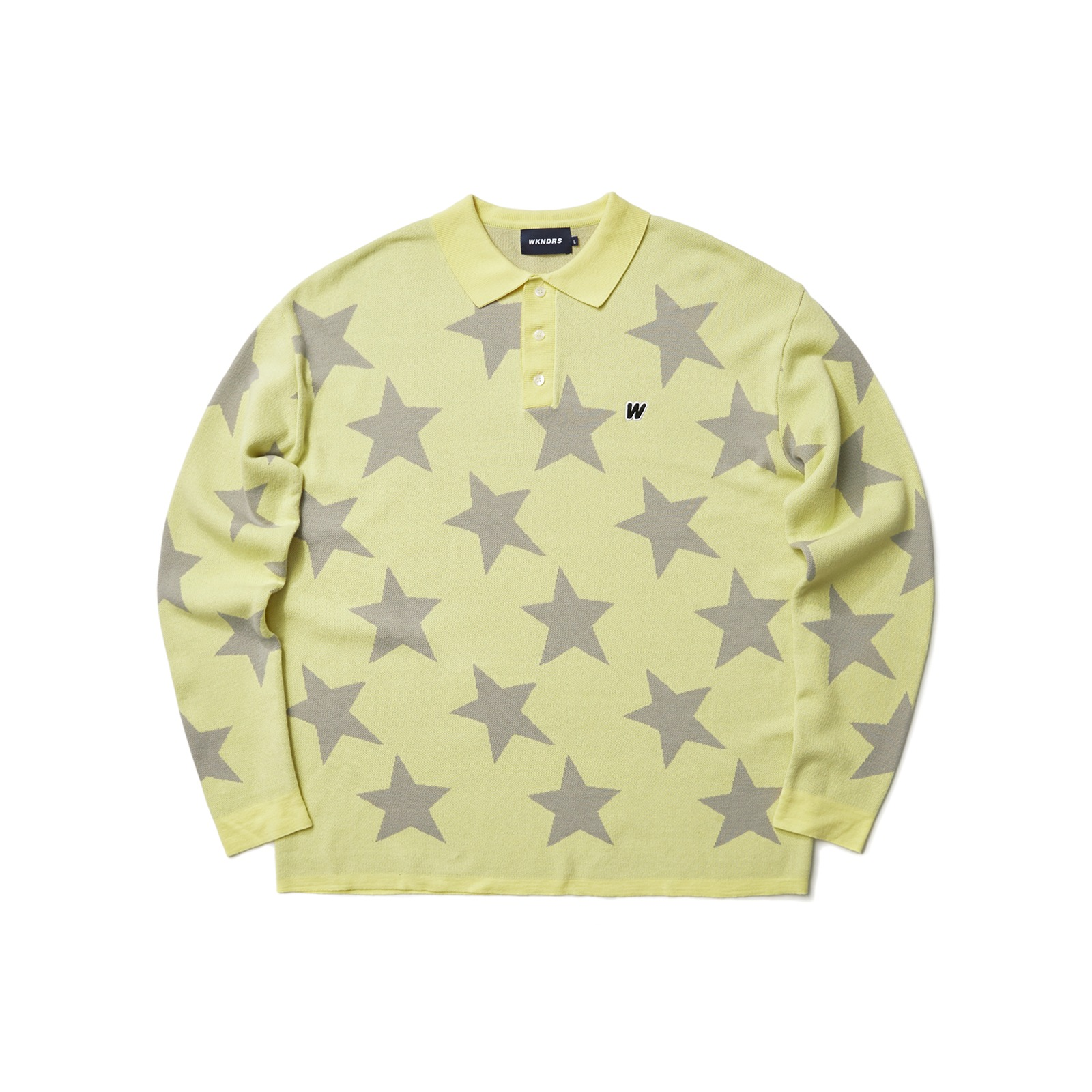 KNITTED STAR POLO SHIRT (YELLOW)