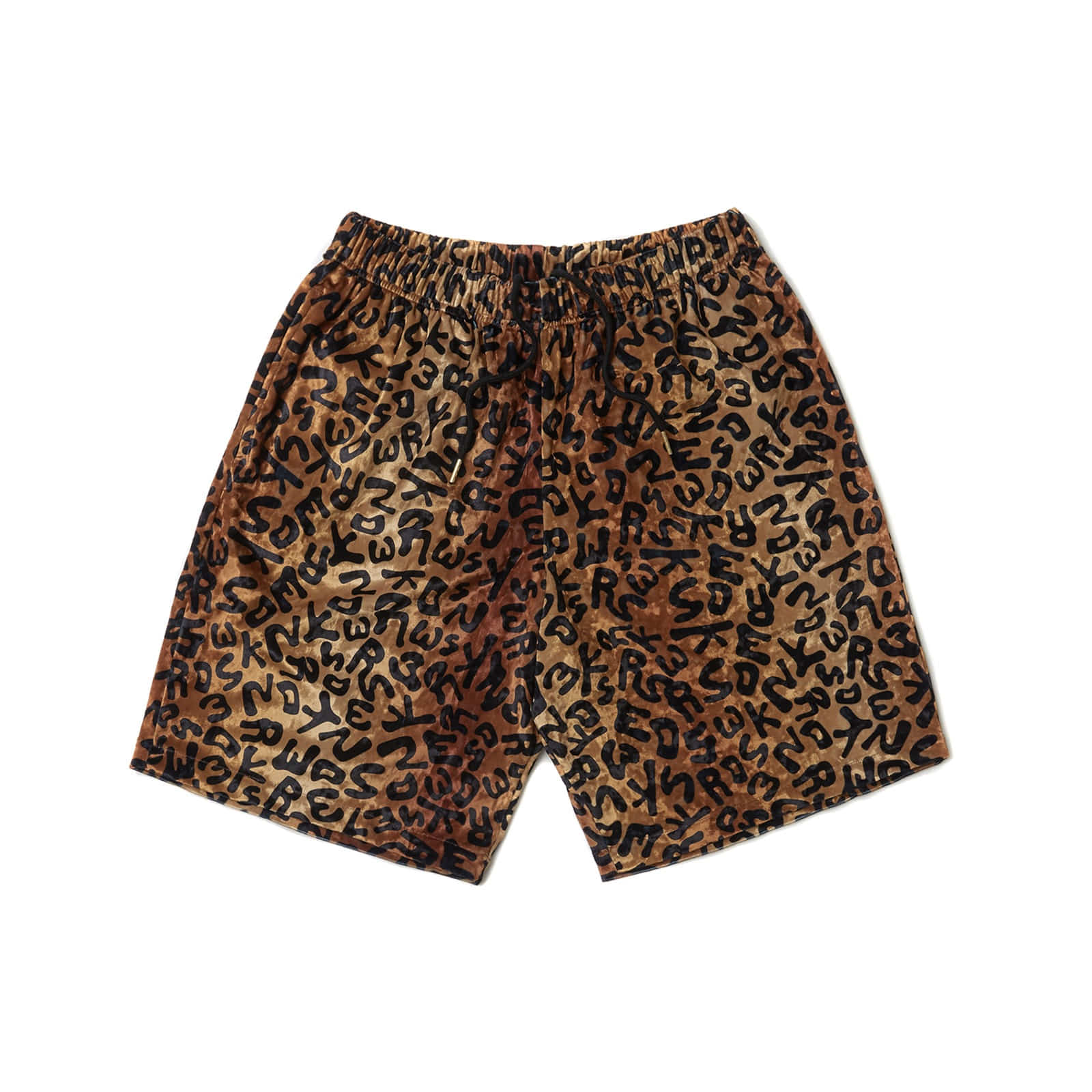 VELVET DRILL SHORTS (BROWN)
