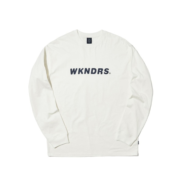 BASIC LOGO LS T-SHIRT (WHITE)