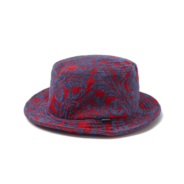 FLORAL JACQUARD HAT (RED)