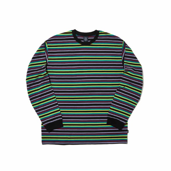 STRIPED LS T-SHIRT (PURPLE)