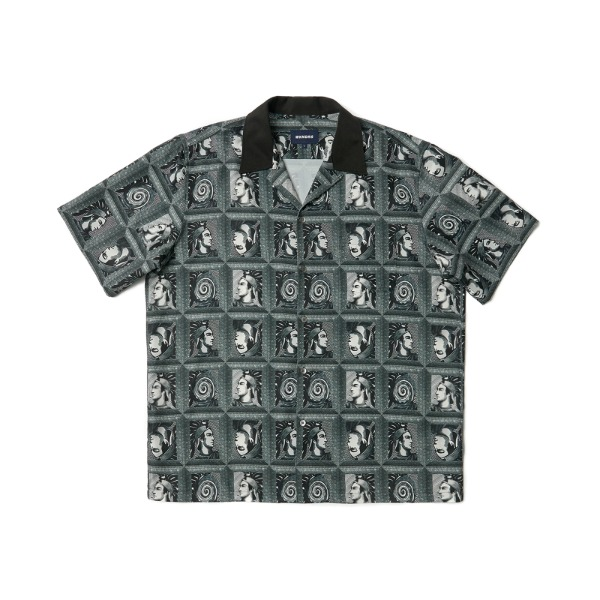PORTRAIT GRID SS SHIRT (BLACK)