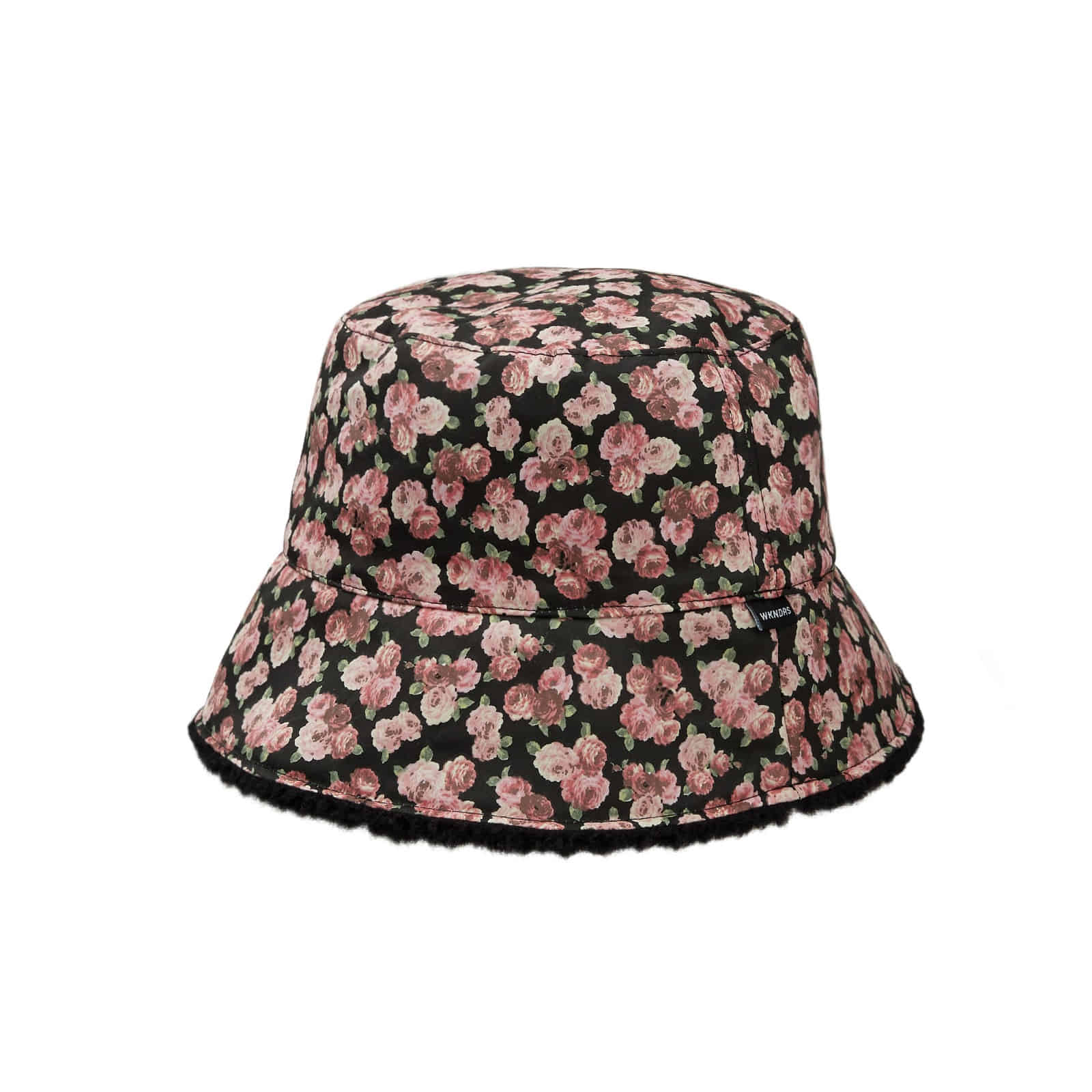 FLORAL REVERSIBLE HAT (BLACK)